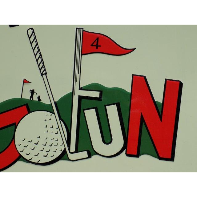 "Vintage ""Play Golfun"" Metal Sign - Image 5 of 5"
