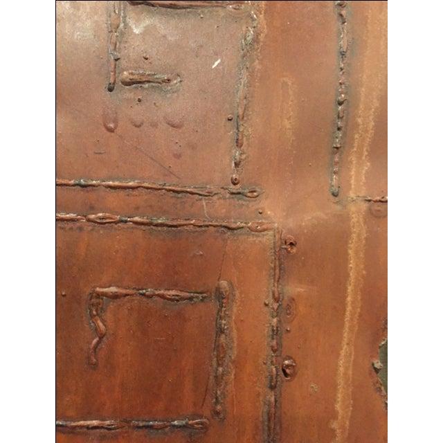 Rustic Brutalist Steel & Iron Mirror - Image 4 of 6