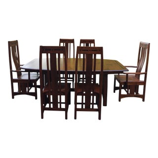 "Simply Amish ""Aspen"" Cherry Dining Set"