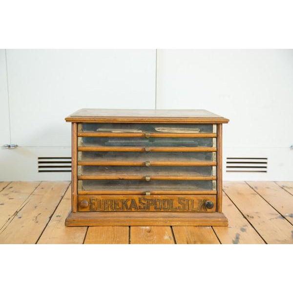 Antique Victorian Eureka Silk Spool Cabinet - Image 2 of 8