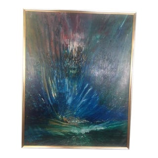 """Yoram Raanan Original Painting """"Moses Parting the Red Sea"""""""