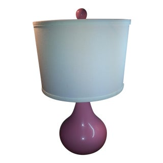 1960s Pink Gourd Lamp