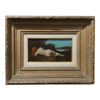 Jean-Jacques Henner-Nude Nymph Oil Painting