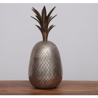 Extraordinary Huge Brass Pineapple Ice Bucket or Trinket or Candy Box