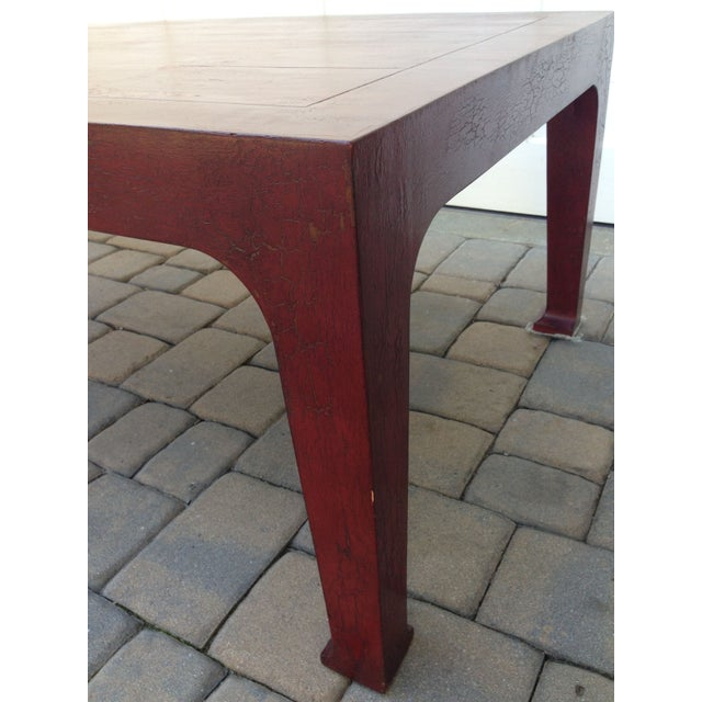 Image of Asian Style Maroon Wood Coffee Table