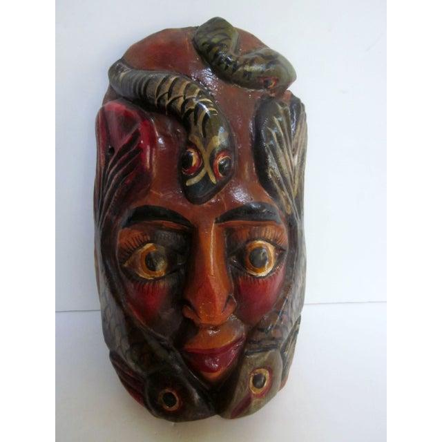 Decorative Carved Masks & Buddha Statue - Set of 3 - Image 6 of 8