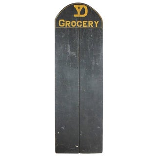1920s Dry Goods Store Wood Grocery Chalkboard