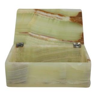 Mid-Century Marbled Onyx Box