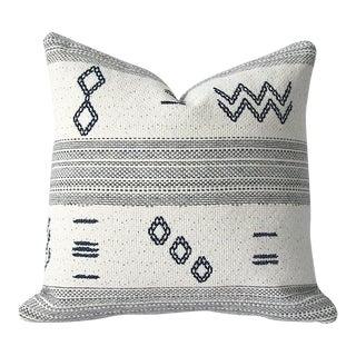 Woven Indigo Cream & Grey Accent Pillow