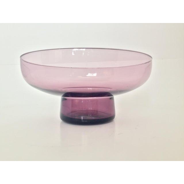 Vintage Lavender Scandinavian Art Glass Bowl - Image 2 of 7