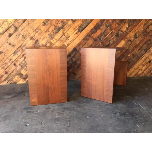 Mid-Century Vintage Walnut Side Tables - A Pair - Image 8 of 8