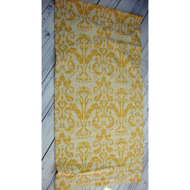 Set of 4 Custom Yellow Gold Cream Ikat Shades - Image 2 of 10