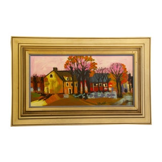 Vintage Original Painting Landscape Scene