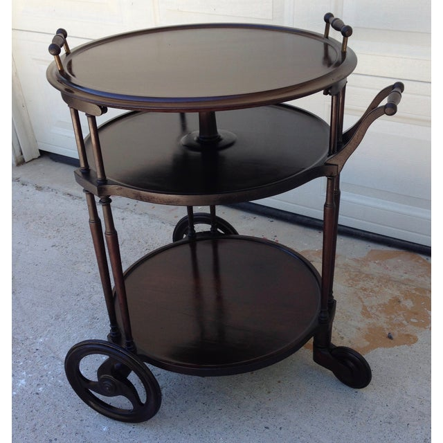 Irving & Casson Antique Wooden Bar Cart - Image 3 of 7