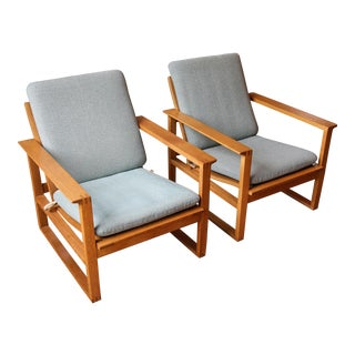Borge Mogensen Model 2256 Lounge Chairs - A Pair