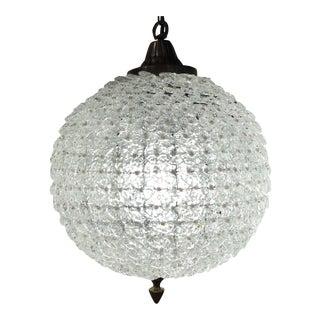 Pearl & Hand Blown Glass Sphere Round Chandelier