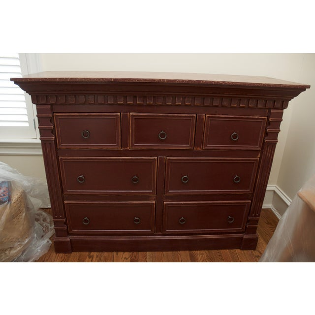 barn red wide bedroom dresser chairish