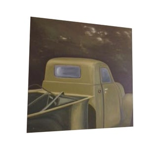 Green-Hued Lowcountry Truck Oil Painting