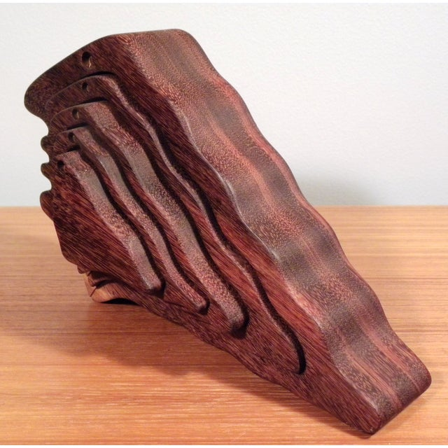 Mid-Century Modern 3D Silhouette Wood Sculpture - Image 5 of 5