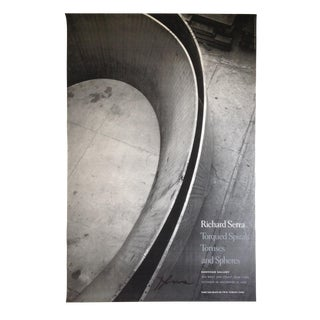 Richard Serra Signed Exhibition Poster