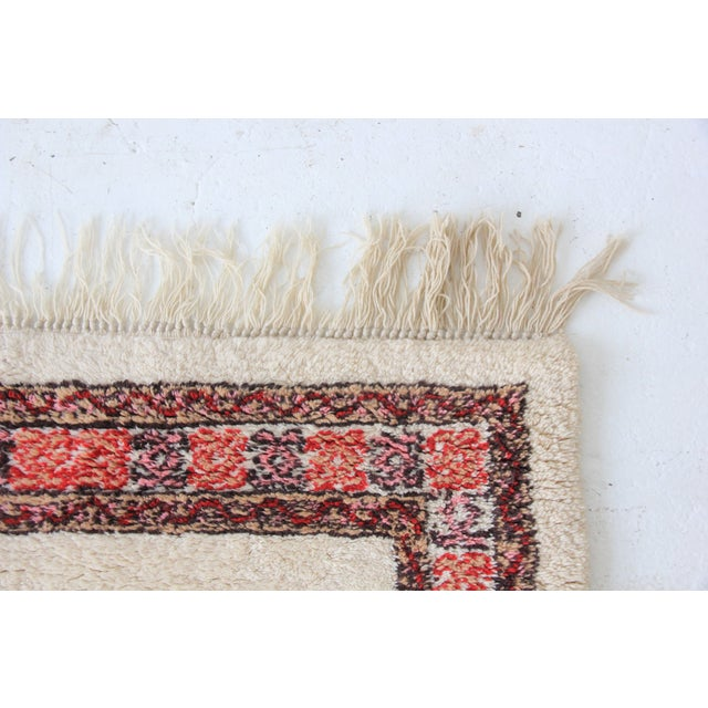 Vintage Pink & White Moroccan Rug - 3′11″ × 5′10″ - Image 7 of 7