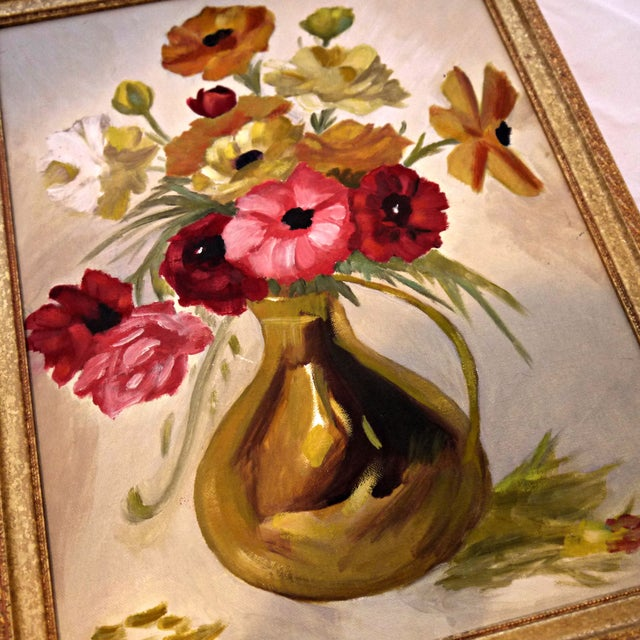 Original Floral Still Life Painting on Canvas - Image 6 of 7