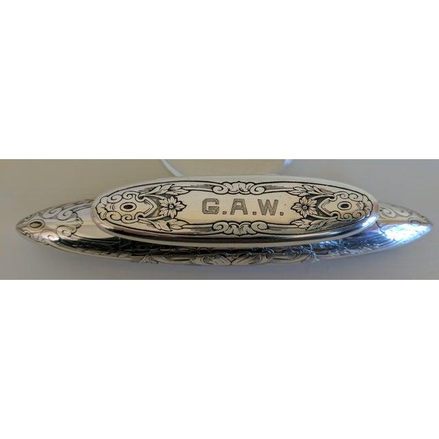 Gorham Sterling Silver Monogrammed Vanity Nail Buffer - Image 2 of 6