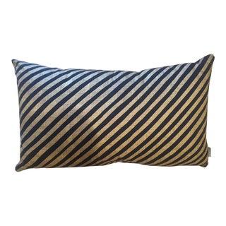 Citta Design Gold & Black Striped Pillow