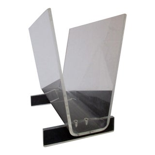 Modernist Lucite Magazine Holder