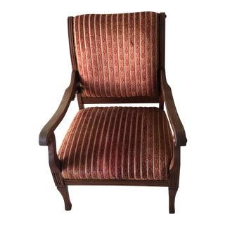 Vintage Holiday Velvet Red Slipper Chair