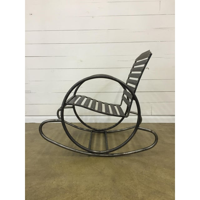 Wrought Iron Porch Rocking Chair - Image 3 of 8