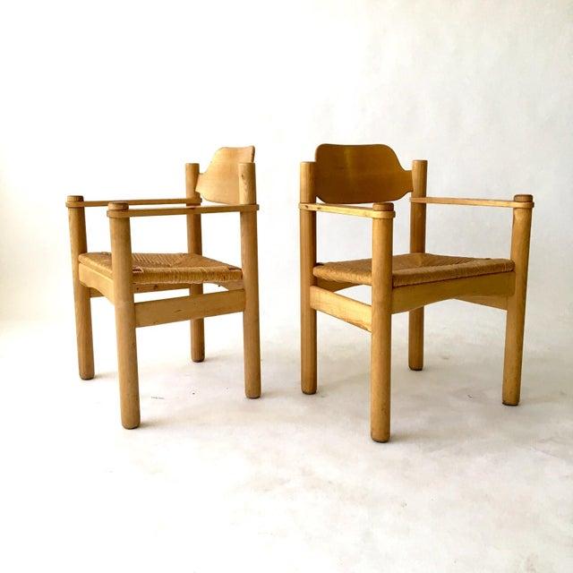 Italian Rush Seat Armchairs - Pair - Image 3 of 6