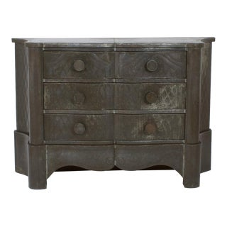 Early 20th Century Mexican Three-Drawer Tin Clad Chest