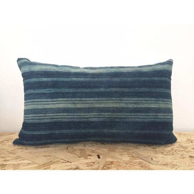 Indigo Cloth Lumbar Pillow - Image 2 of 5