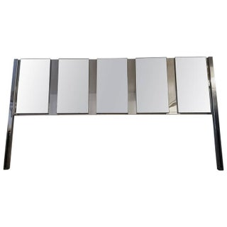 Vintage Ello Mid Century Modern Mirrored King Headboard