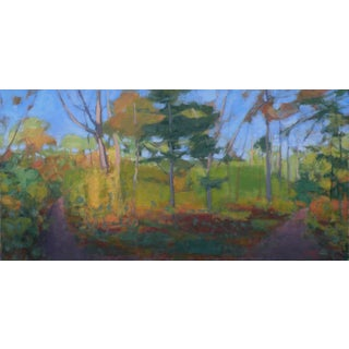 Original Painting of Two Roads Diverging in the Woods