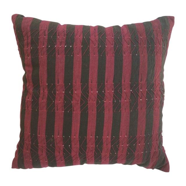 Vintage Nigerian Ashoke Cloth Pillow - Image 1 of 3