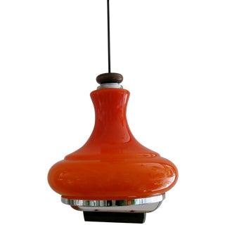 German Orange Glass Pendant Light