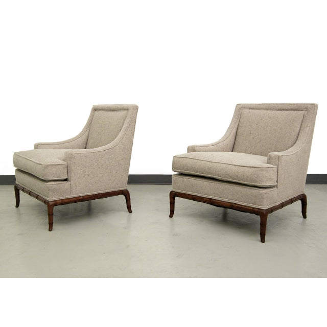 Bamboo Base Mid-Century Lounge Chairs - A Pair - Image 2 of 7