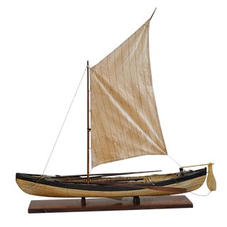 Early 20th Century Nantucket Wooden Whaler Ship Model