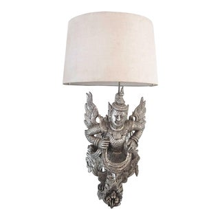 Antiqued Silver Finished Wall Sconce by James Mont