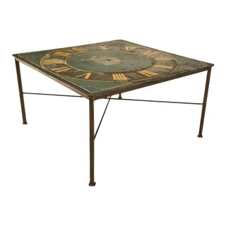Antique Steel Based Continental Clock Face Table