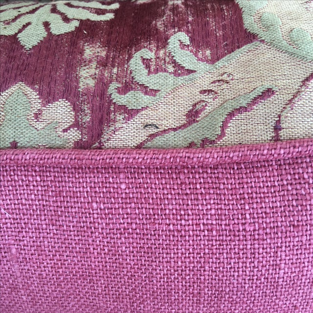 Custom Antique Textile Pillows - A Pair - Image 4 of 4