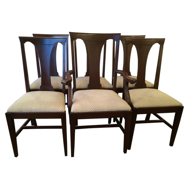 Mahogany Dining Chairs with Slip Seats - Set of 6 - Image 1 of 7
