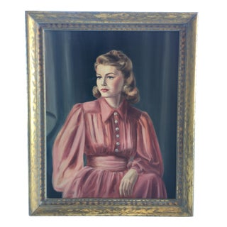 Vintage Portrait of a Lady in Red
