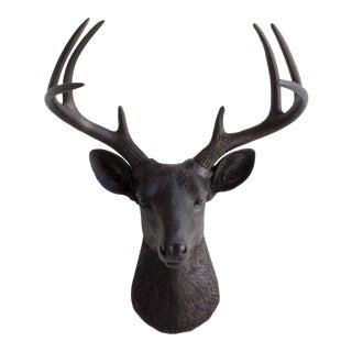 Wall Charmers Black Faux Deer Head