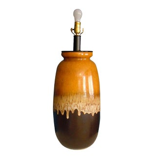 Scheurich Keramic Brown & Orange Table Lamp