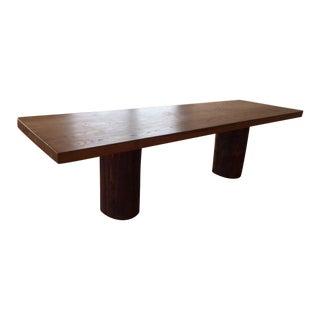 Mid-Century Modern Solid Elm Table