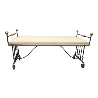French Iron and Bronze Bench
