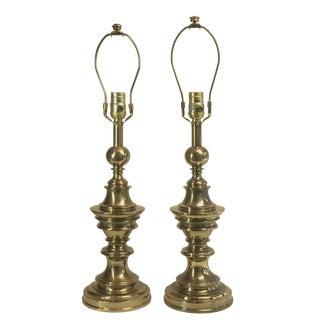 Vintage Stiffel Brass Lamps - A Pair